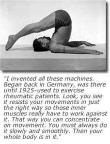 Man demonstrating flexibility